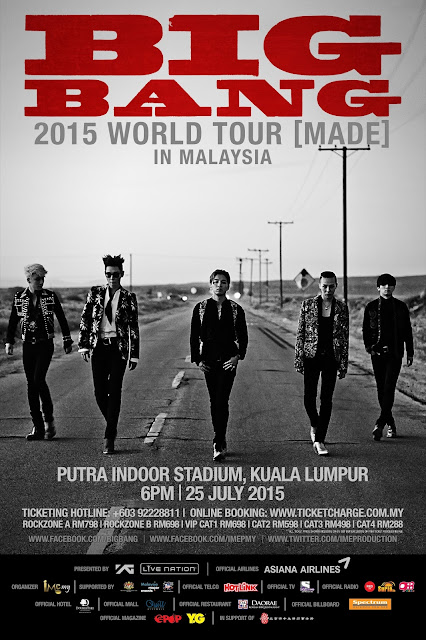 BIGBANG 2015 World Tour Live in Malaysia - Hotlink Official Telco Sponsor  25 July 2015 @ 6PM Putra Indoor Stadium