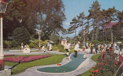 Miniature Golf in Central Gardens, Bournemouth. Postcard by The Photographic Greetings Cards Co Ltd, London. Posted 24 July 1970