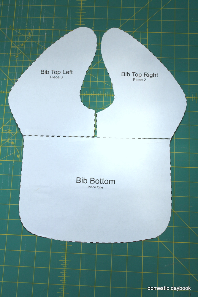 My Domestic Daybook: Easy, Large Baby Bib Tutorial with ...