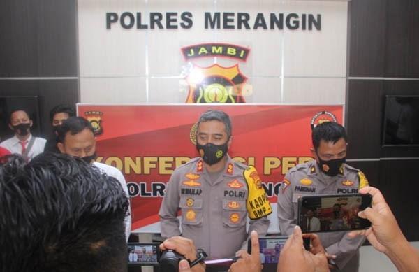 enam orang membawa narkoba ditangkap polres merangin