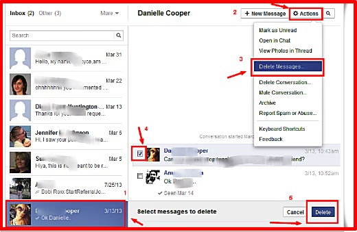 can you retrieve deleted facebook inbox messages