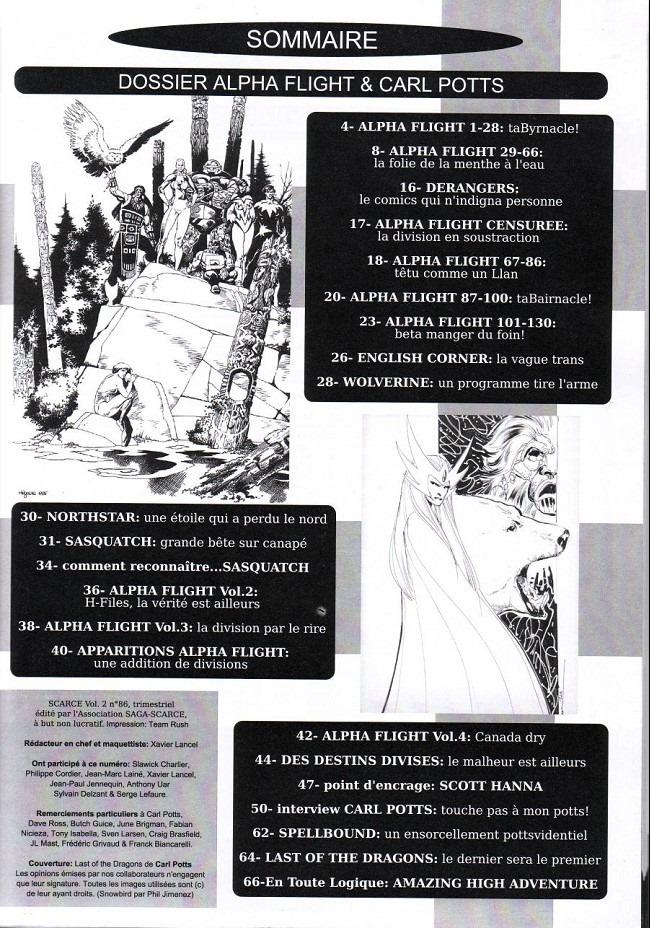 Fanzines et revues d'étude sur la BD - Page 29 Sommaire86