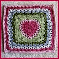 Granny corazón crochet