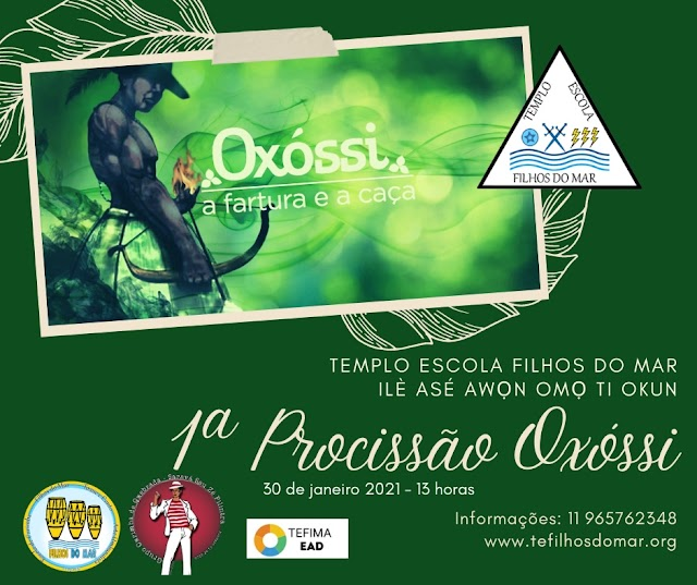 1ª Procissão Oxossi - Louvação e Agradecimento