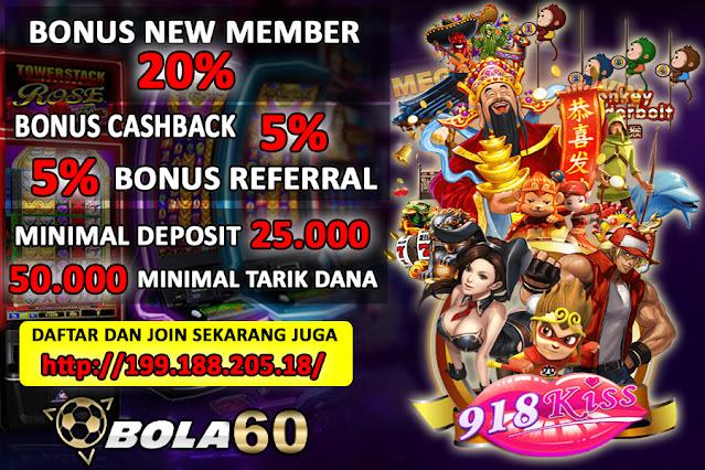 Situs Slot 918KISS Agen BOLA60 Indonesia Terpopuler