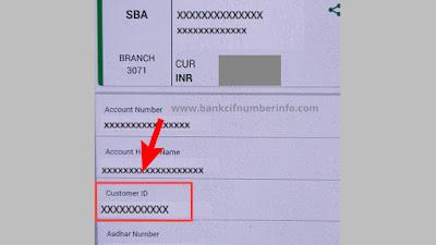 Corporation bank customer id in passbook