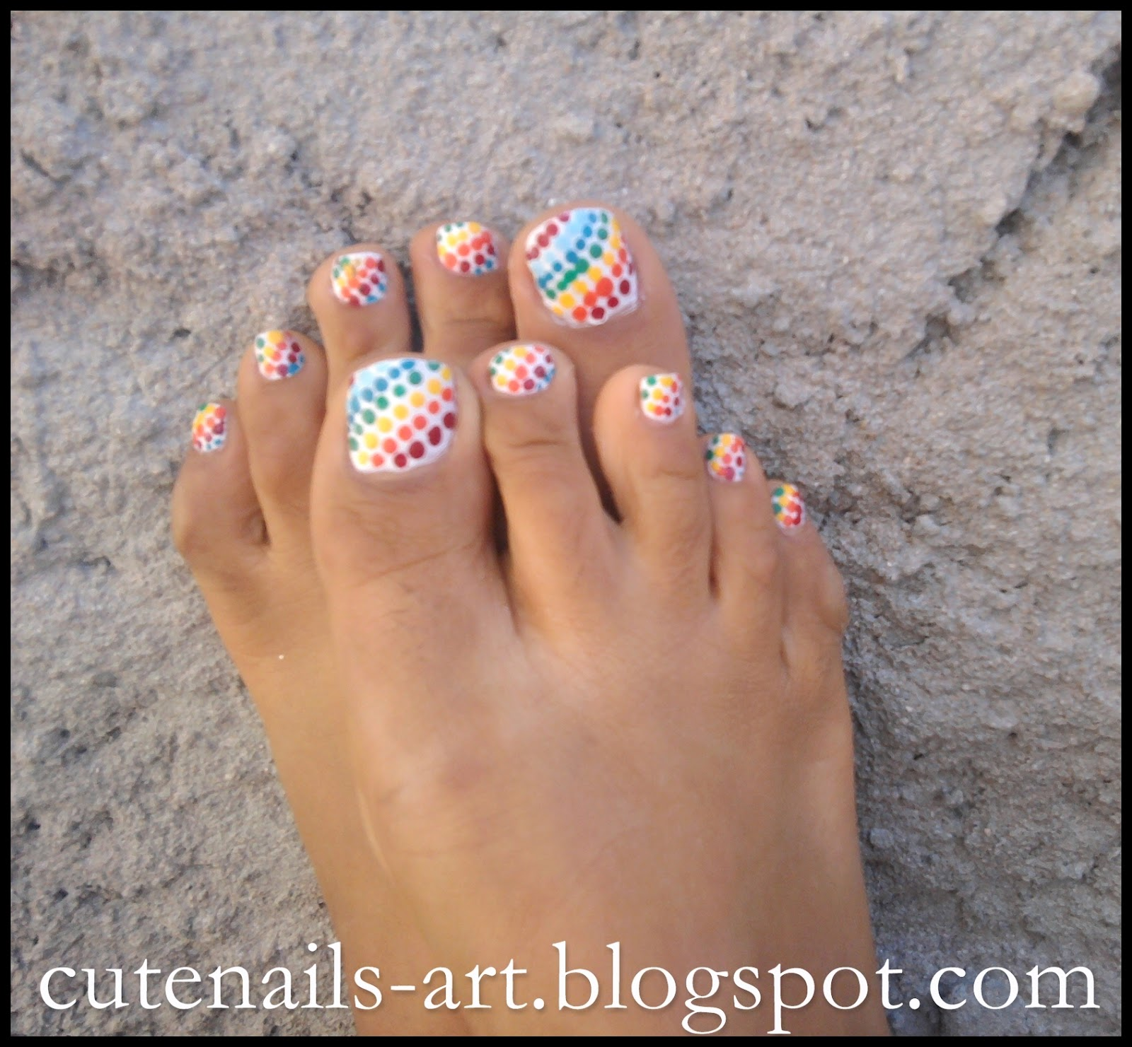 cutenails-art: 4 summer pedicures,easy & fun designs
