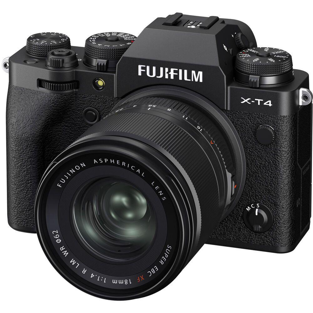 Объектив Fujifilm XF 18mm f/1.4 R LM WR с камерой Fujifilm X-T4