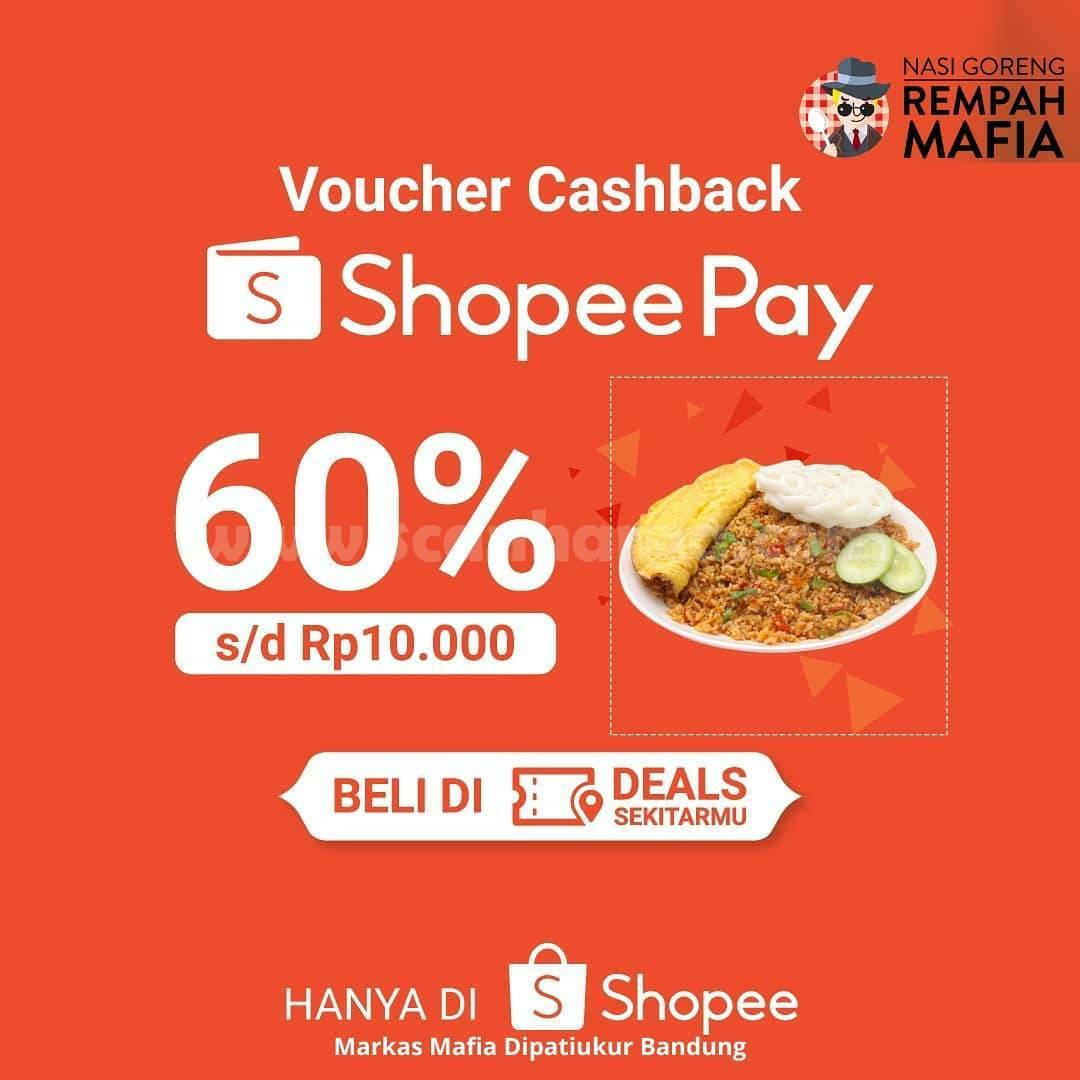 Promo Nasgor Mafia Dipatiukur Bandung: Dapatkan Voucher Cashback 60% dari ShopeePay