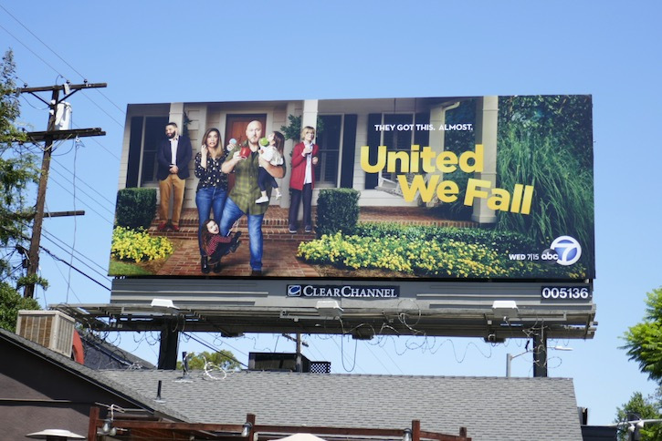 United We Fall series premiere billboard