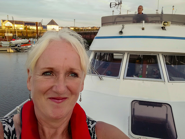 Photo of Phil and I leaving Maryport Marina on Ravensdale on Saturday afternoon