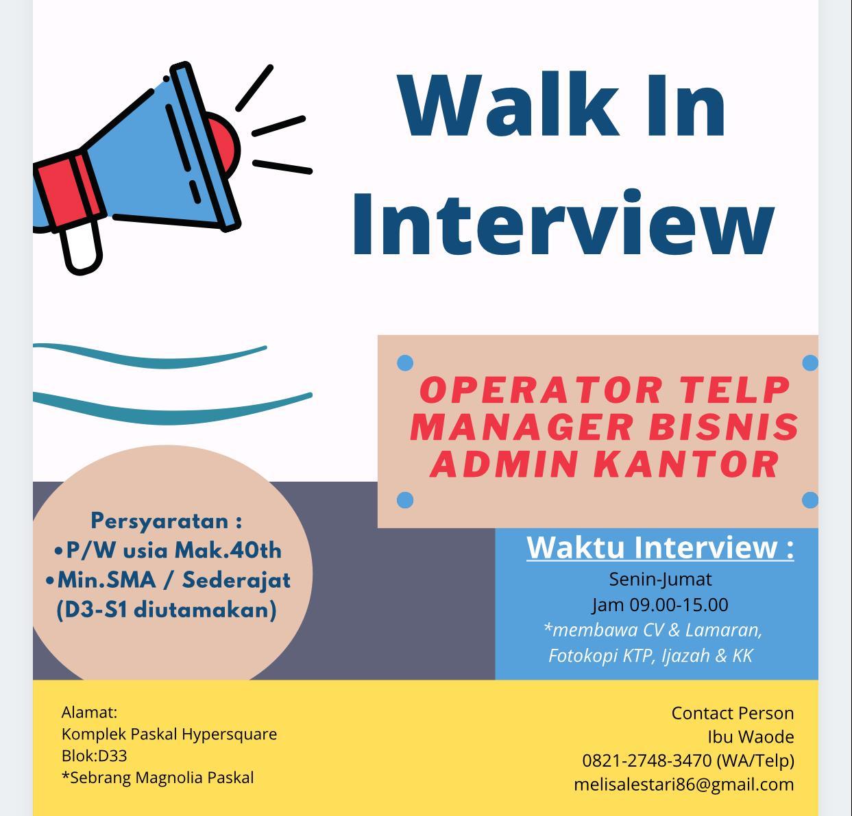 Walk In Interview Kp Press Bandung Maret 2021