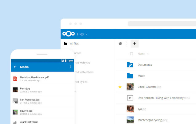 Nextcloud on desktop and mobile