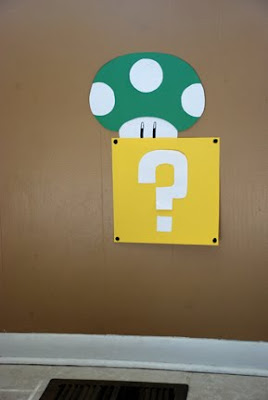 mushroom wall decoration super mario bros