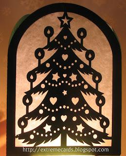 papercut Christmas lantern