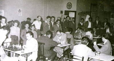 Primera ronda del III Torneo Nacional de Ajedrez de La Pobla de Lillet 1957