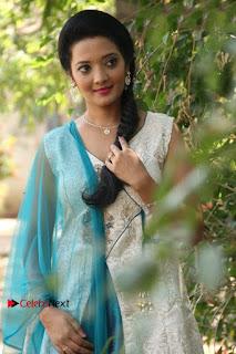 Tamil Actress Koushika Stills in White Salwar Kameez at Inayathalam Tamil Movie Audio Launch  0006.jpg