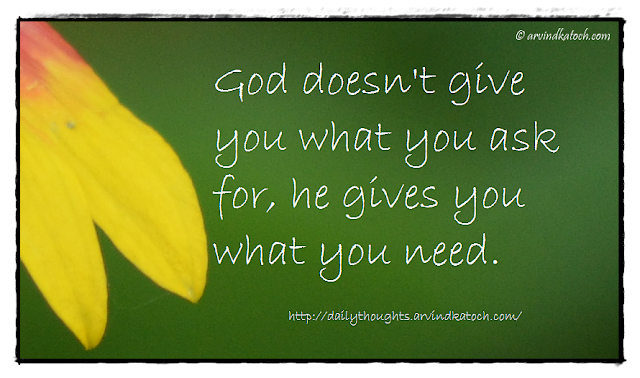 Daily Thought, Picture Message, God, need, Daily Quote,