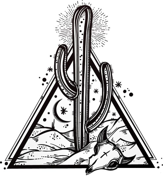 Cactus-Desert-Scene-inside-Sacred-Geometry-Pyramid