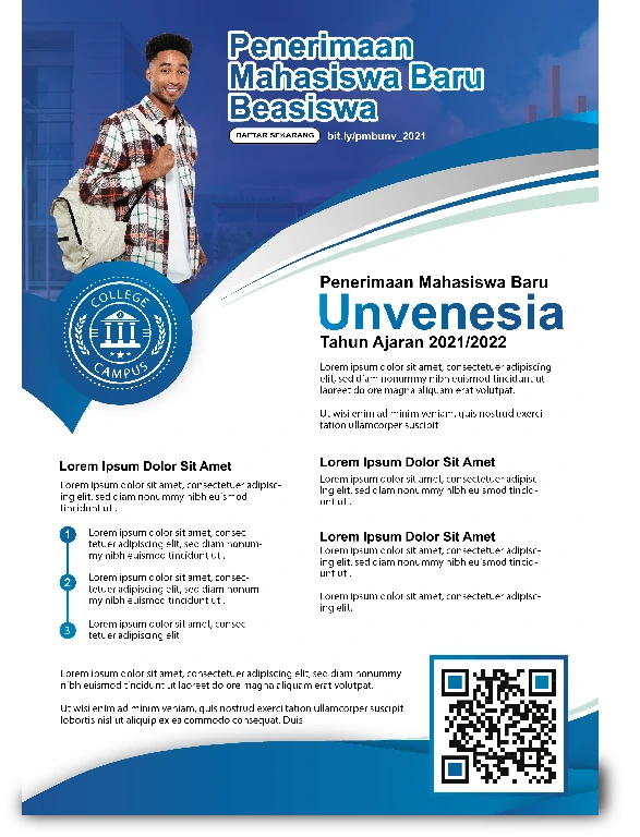 Download Brosur Mahasiswa Baru CorelDraw Dan Ai Biru 2 Lipat Keren