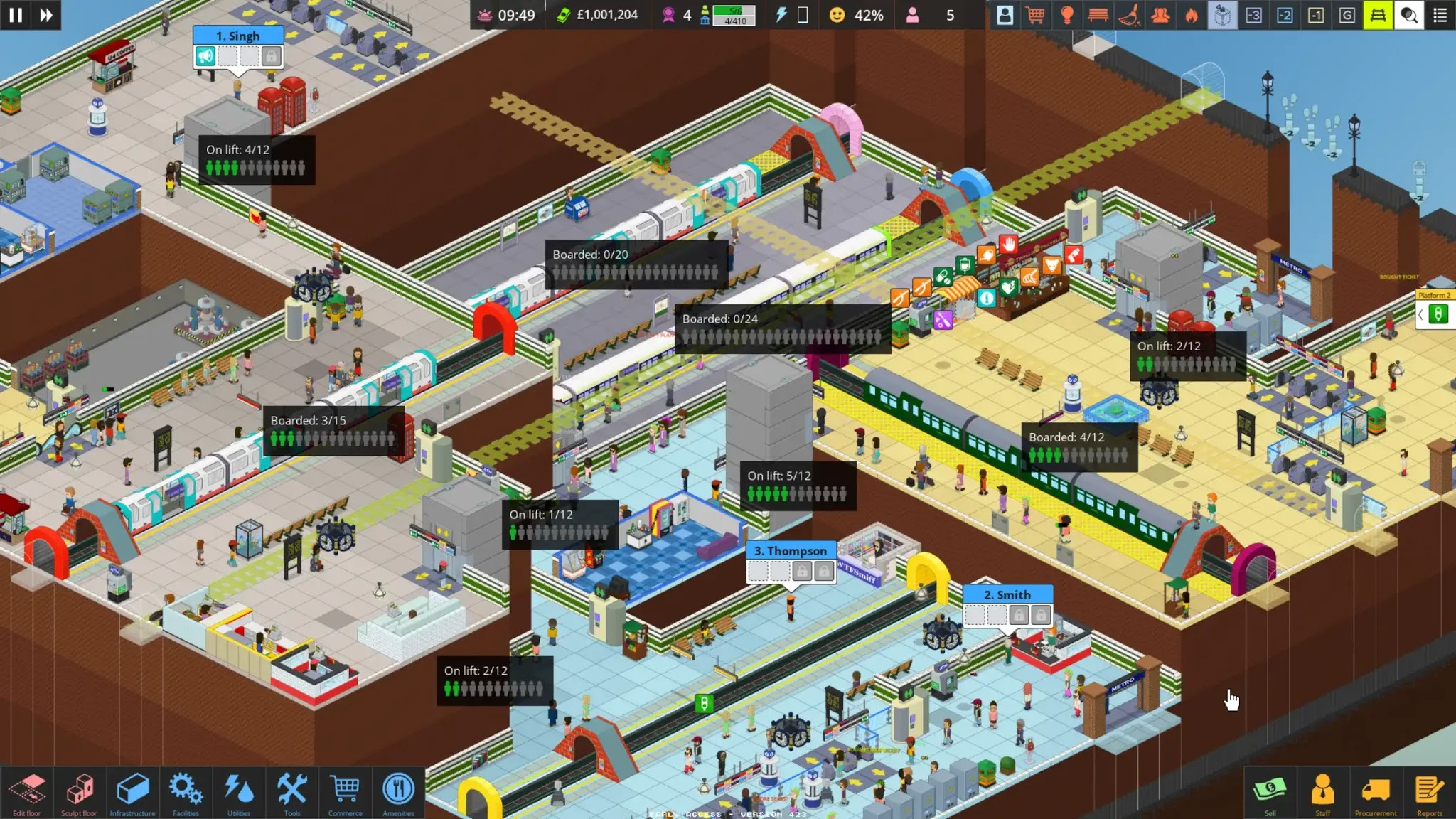 A multi floor station in Overcrowd