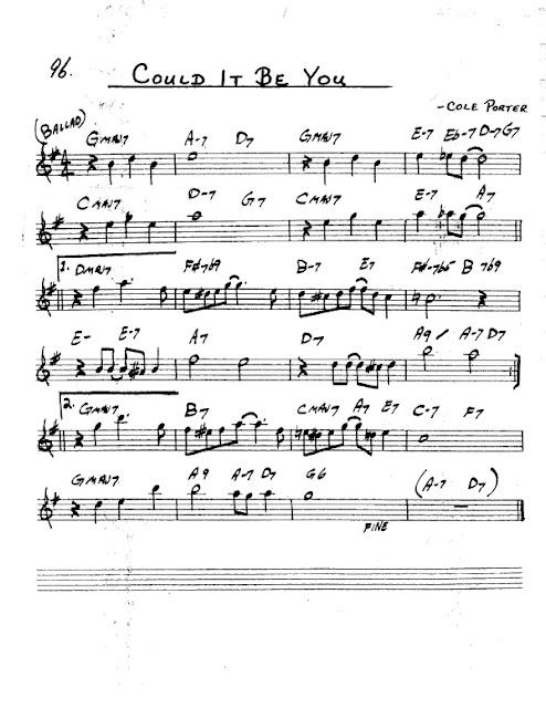 Partitura Saxofón Cole Porter
