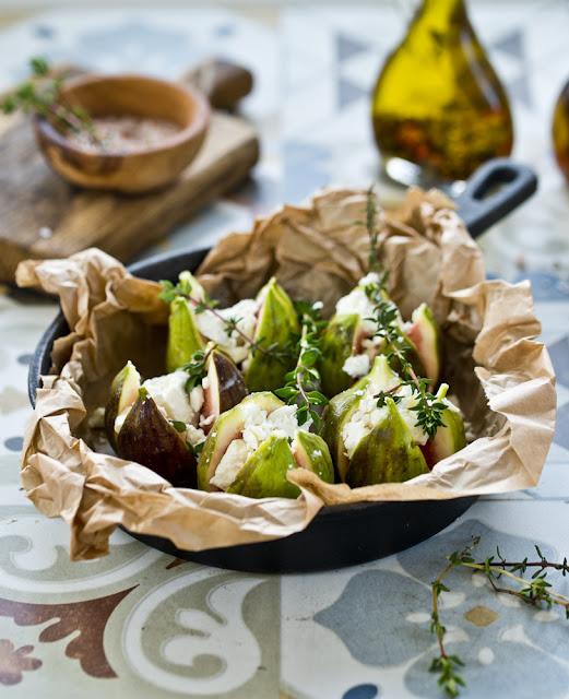 pieczone figi z serem feta