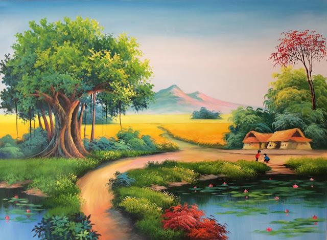 Tranh phong cảnh thôn quê