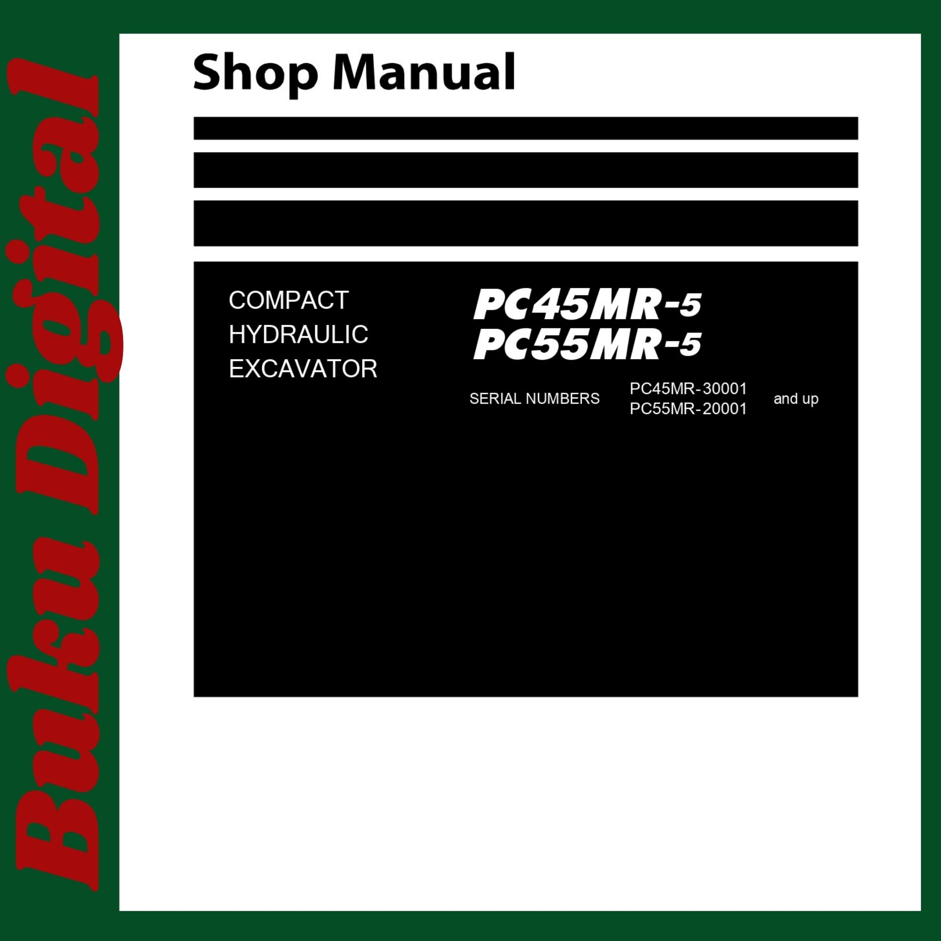 Komatsu shop manual pc45mr-5 pc55mr-6 excavator