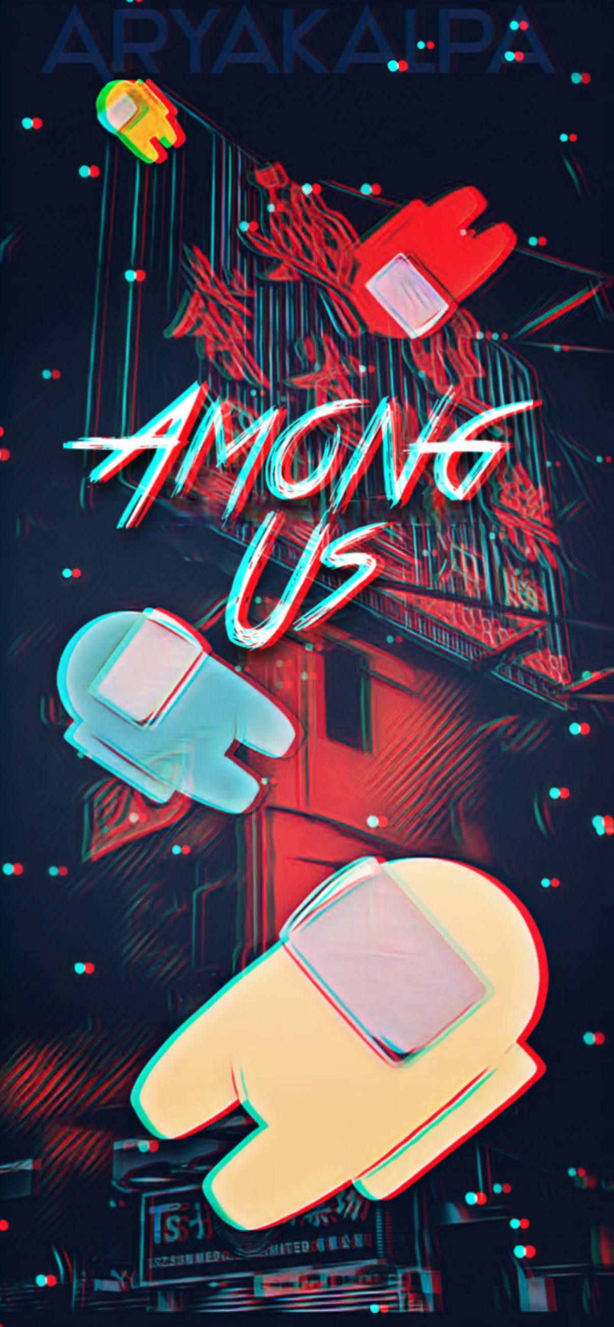 among us impostor background game wallpaper for mobile phone iphone