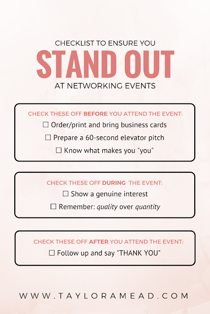 6 Surefire Ways to Stand Out at Any Conference or Networking Event - Taylor A Mead