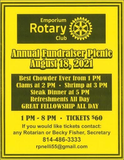 8-18 Emporium Rotary Fundraiser