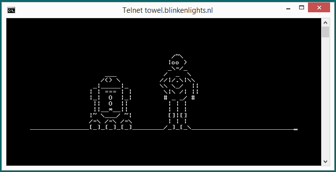 Watch Star Wars Episode IV in ASCII Format through Telnet 2