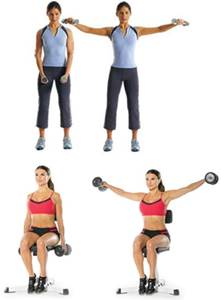 Ejercicios para trabajar las fibras laterales de los hombros en mujeres