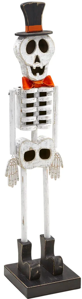 PIER ONE Mr. Skeleton 4' Wooden Halloween Decor