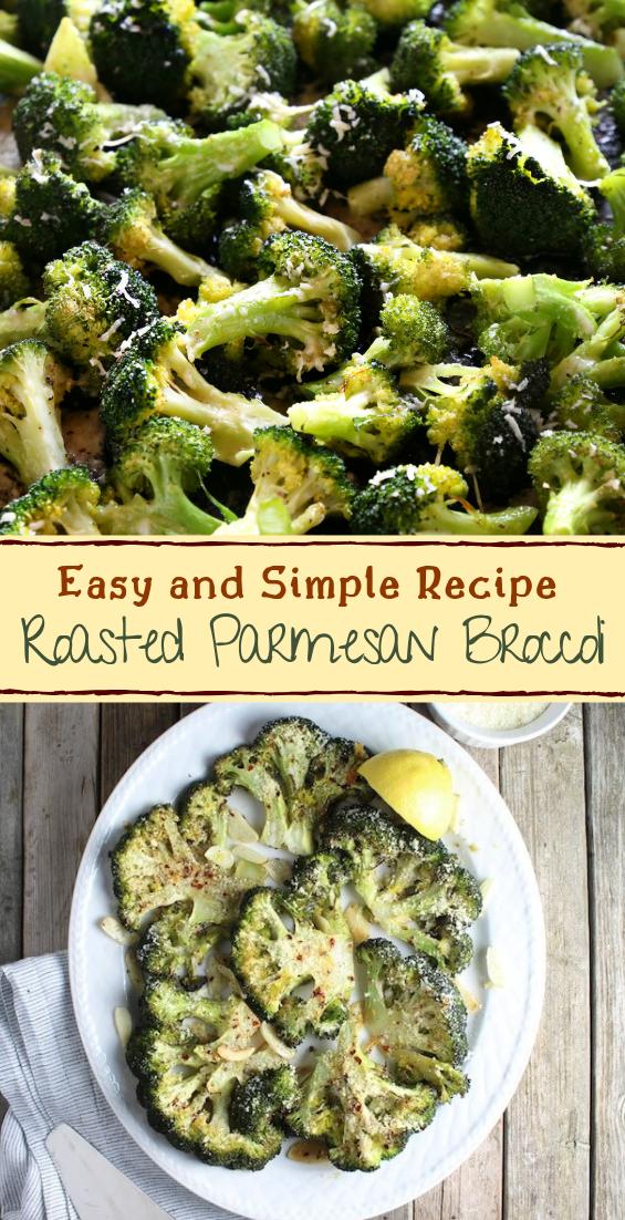 Roasted Parmesan Broccoli #vegan #vegetarian #soup #breakfast #lunch