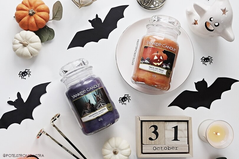 nowe zapachy yankee candle na halloween 2019 - haunted hayride i trick or treat