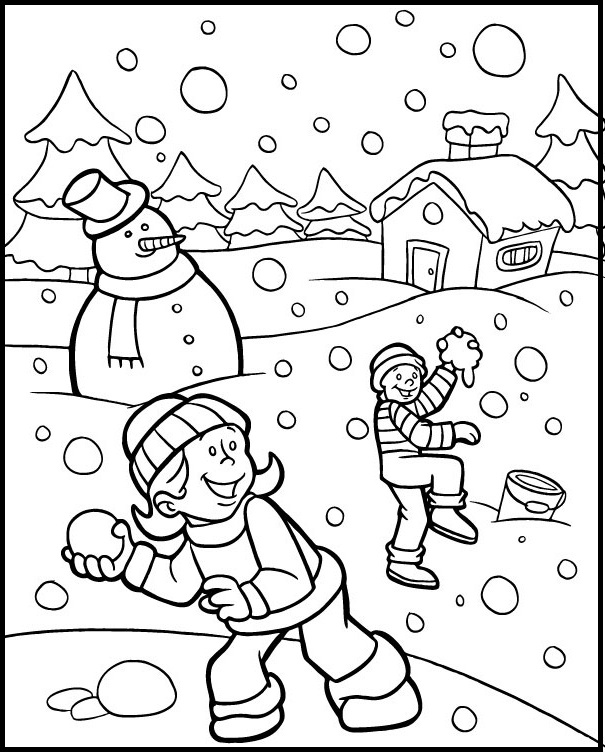 Coloring pages Winter. Print for free, 100 images for children | 754x605