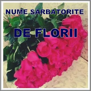 lista nume care se sărbătoresc de florii