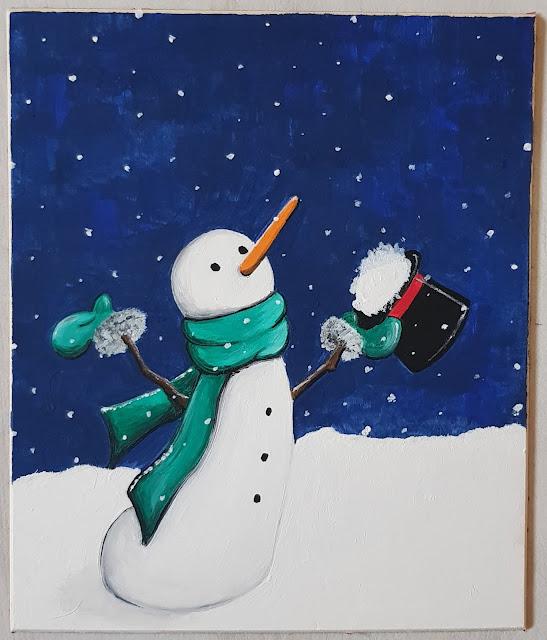 pupazzo di neve dipinto
