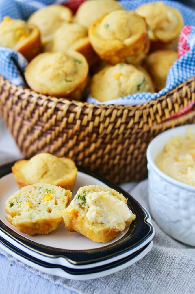 Jalapeño Corn Bread Muffins