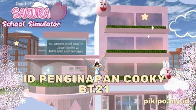 ID Penginapan Cooky BT21 Di Sakura School Simulator