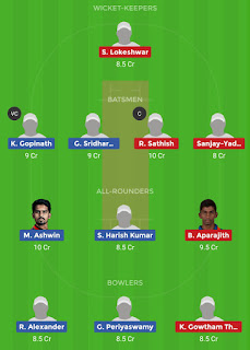 Dream11 team for CHE vs VBK 19th Match | Fantasy cricket tips | Playing 11 | TNPL Dream11 Team | today match prediction |