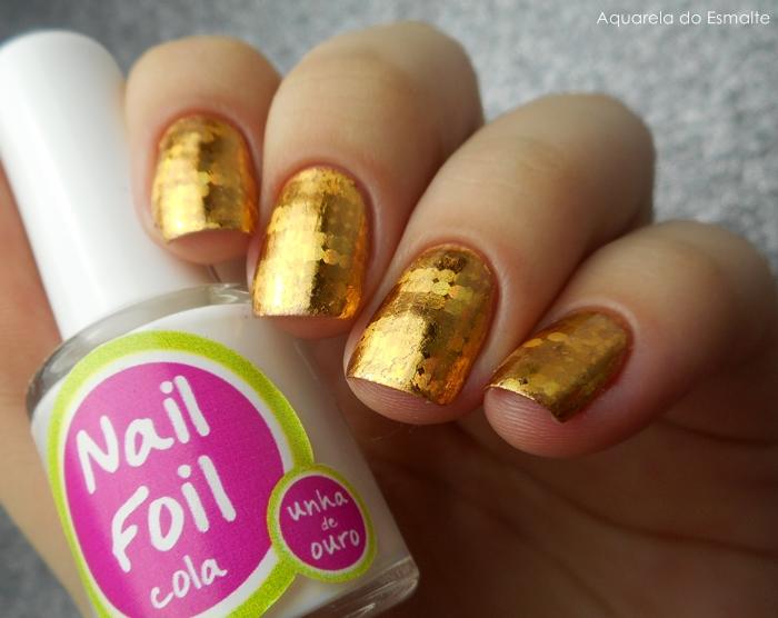 Esmalte La Femme - Bronze + Nail Foil Unha de Ouro
