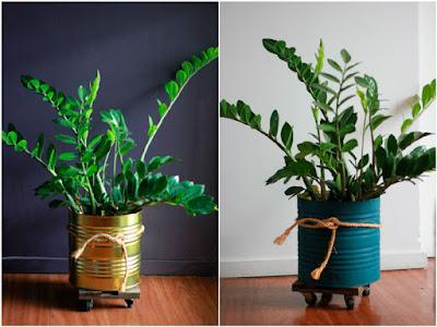 40 ideias de vasos com material reciclado para plantas