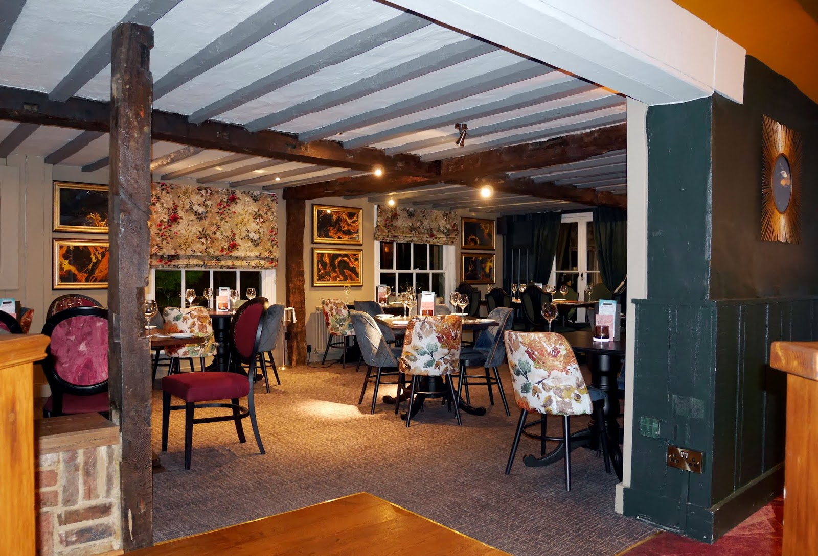 A dining area at The Horseshoes in East Farleigh, Kent