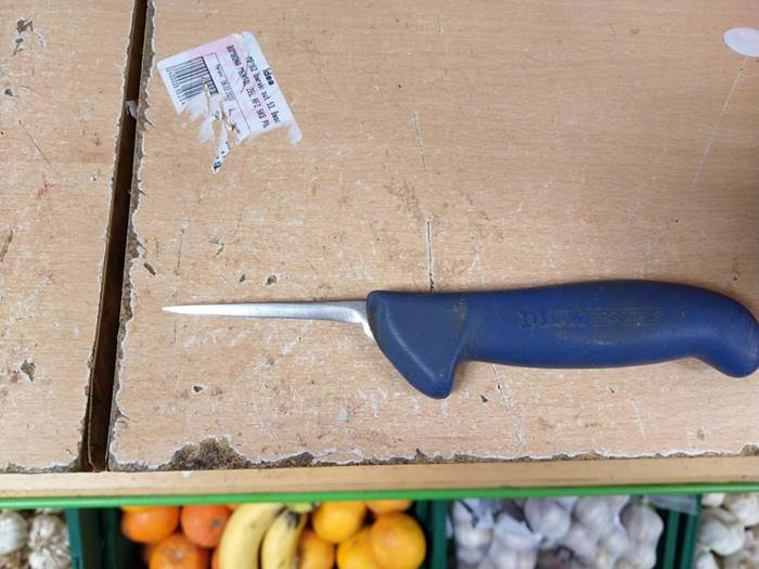 This knife I saw at my local grocery store