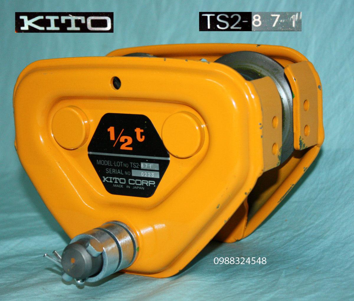 Con chạy đẩy tay Kito TSP-005 0.5 tấn