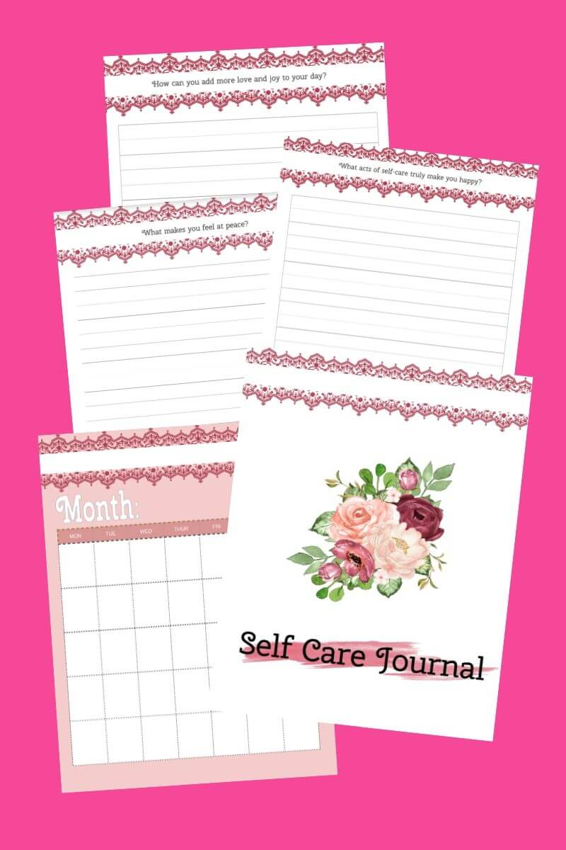 self care journal printables