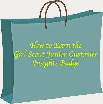 Meeting plan on How to Earn the Junior Girl Scouts Customer Service Insights Badge